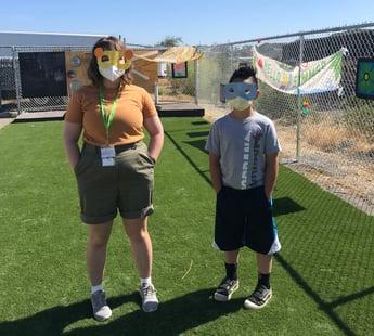 Animal masks they made